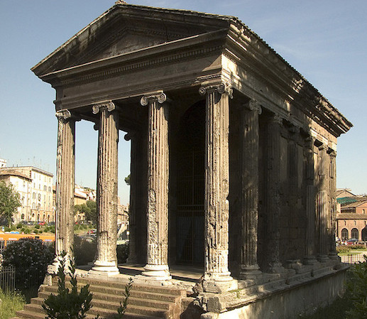 Temple Of Portunus (formerly Known As, Fortuna Virilis), Travertine, Tufa,  And Stucco, C. 120 80 B.C.E., Rome