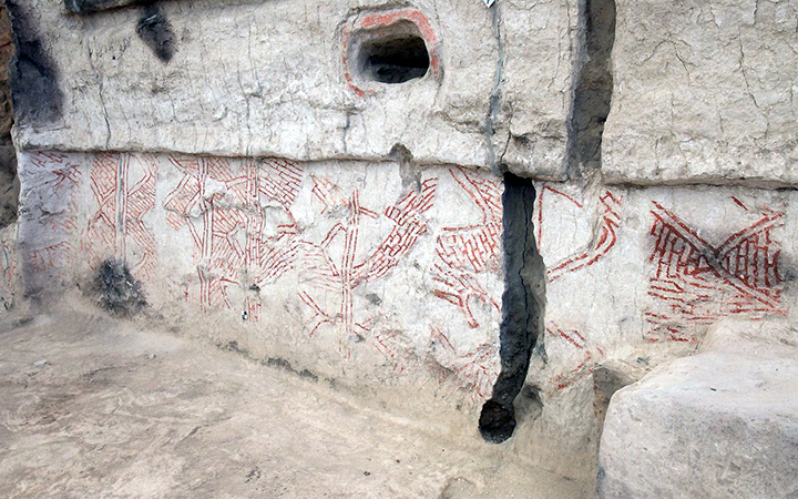 Neolithic Wall Painting in Building 80, Çatalhöyük (photo: Çatalhöyük, CC: BY-NC-SA 2.0)