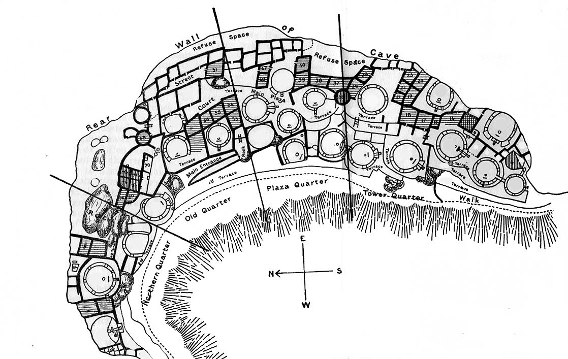 Cliff Palace plan, Mesa Verde National Park