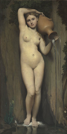 Jean Auguste Dominique Ingres, La Source, 1856, oil on canvas, 163 x 80 cm (Musée D'Orsay, Paris)