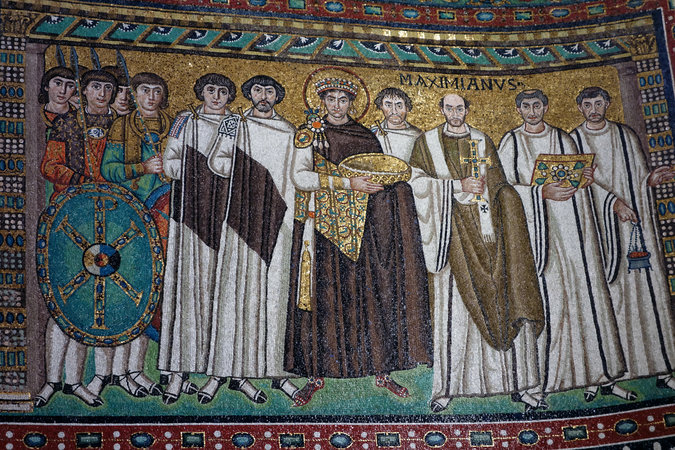 Justinian and his attendants (photo: Steven Zucker, CC: BY-NC-SA 2.0)