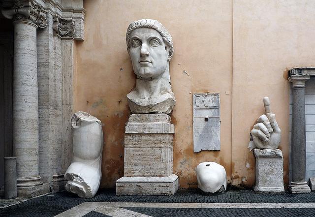The Colossus of Constantine, c. 312-15 (Palazzo dei Conservatori, Musei Capitolini, Rome)