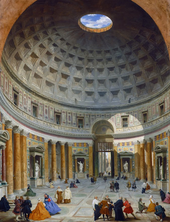 Giovanni Paolo Panini, Interior Of The Pantheon, C. 1734, Oil On Canvas,  128 X 99 Cm (National Gallery Of Art)