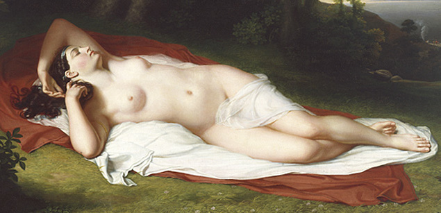 Detail, John Vanderlyn, Ariadne Asleep on the Island of Naxos, 1809-14