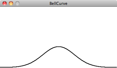 Graph of a bell curve with a higher standard deviation