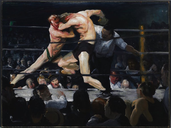 George Bellows, Stag at Sharkey's, 1909, oil on canvas, 110 x 140.5 cm (Cleveland Museum of Art)