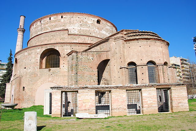 Rotunda of Galerius, later a Christian church, and afterwards a mosque. Today it is known as the Church of the Rotunda, 4th century CE, Thessaloniki, Greece (photo: George M. Groutas, CC BY 2.0)