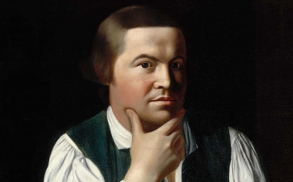 Face (detail), John Singleton Copley, Paul Revere, 1768, oil on canvas, 89.22 x 72.39 cm (Museum of Fine Arts, Boston)
