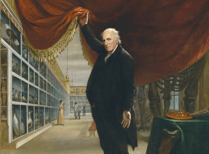Detail, Charles Wilson Peale, The Artist in His Museum, 1822, oil on canvas, 263.5 x 202.9 cm (Pennsylvania Academy of Fine Arts)