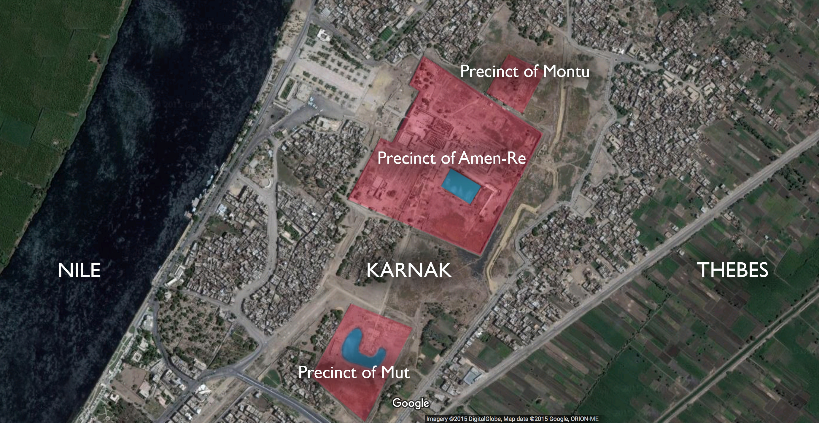 Google Earth view of Karnak