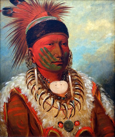 George Catlin, The White Cloud, Head Chief of the Iowas, 1844-45, oil on canvas, 71 x 58 cm (National Gallery of Art, Washington)