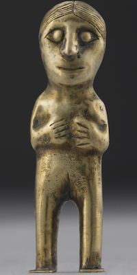 Gold capacocha figurine, Inka, 6 cm high, © Trustees of the British Museum
