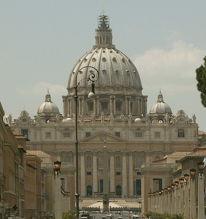 Numerous architects (see below), Saint Peter's Basilica, begun 1506 completed 1626 (Vatican City) (photo: Steven Zucker, CC BY-NC-SA 2.0)