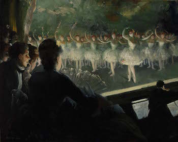 Everett Shin, The White Ballet, 1904, oil on canvas, 74.9 x 93.3 cm(Smithsonian American Art Museum, Washington D.C.)
