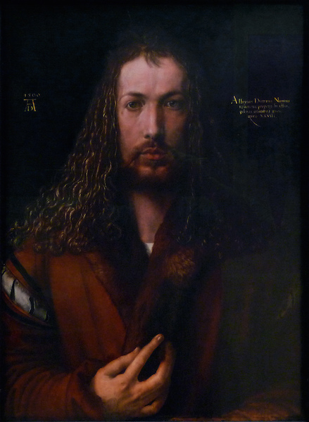 Albrecht Dürer, Self-Portrait, 1500 (Alte Pinakothek, Munich)