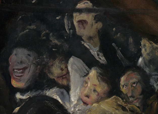 Crowd (detail), Both Members of This Club, 1909, oil on canvas, 115 x 160.5 cm (National Gallery of Art, Washington, D.C.)