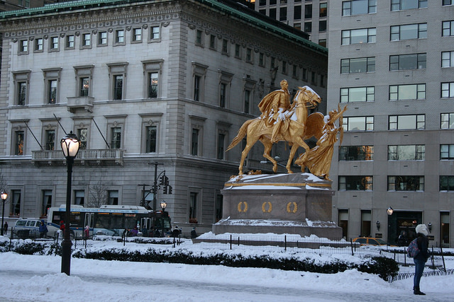 Augustus St. Gaudens, General William Tecumseh Sherman, 1903 (Grand Army Plaza, Fifth Avenue between 59th and 60th Streets) (photo: Stu Rapley, CC BY-NC-ND 2.0)