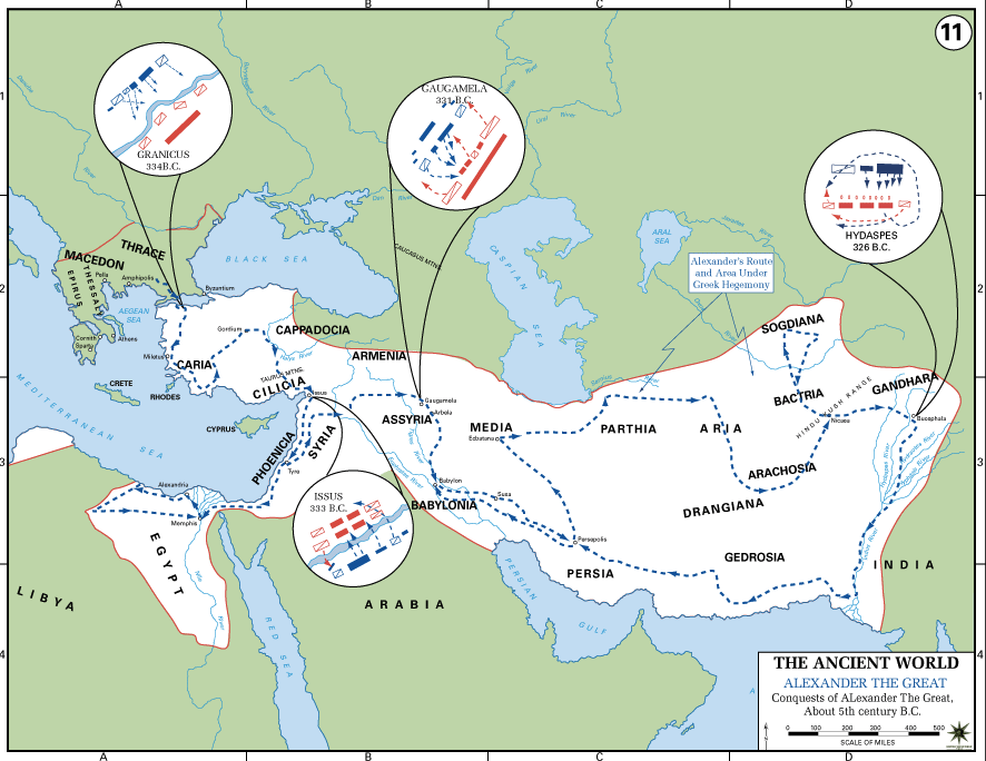 Alexander The Great Article Khan Academy - Map of egypt greece and rome