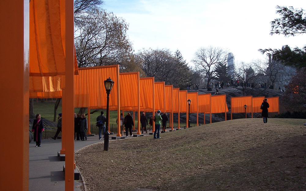 Christo and Jeanne-Claude, The Gates, 1979-05, © Christo, Jeanne-Claude