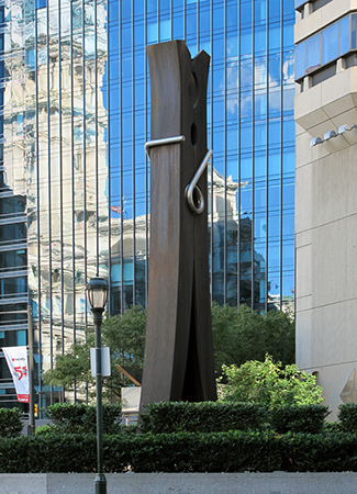 Claes Oldenburg, Clothespin, 1976, cor-ten steel, 14 x 3.73 x 1.37 m, Philadelphia (photo: Ellen Fitzsimons, CC: BY-NC-SA)