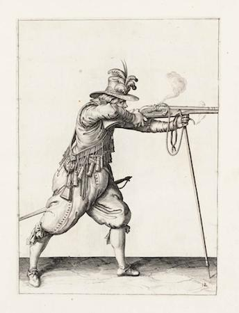 Jacob de Gheyn, Instruction for the Use of the Musket, Fire, from The Exercise of Arms, 1607