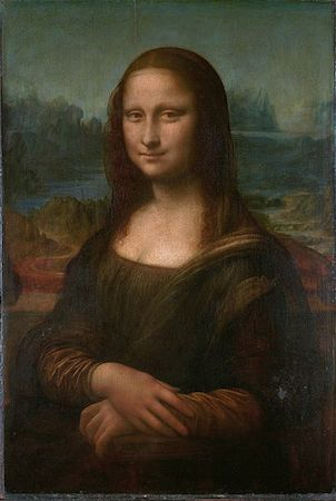 Leonardo da Vinci, Mona Lisa, c. 1503-05, oil on panel 30-1/4 x 21 inches (Musée du Louvre)
