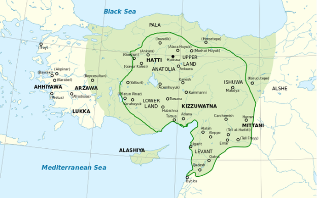 The hittites and ancient anatolia article khan academy a map of the hittite empire at its greatest extent in the mid 1300s the hittite empire is colored in green and is bordered by the black sea and the gumiabroncs Image collections