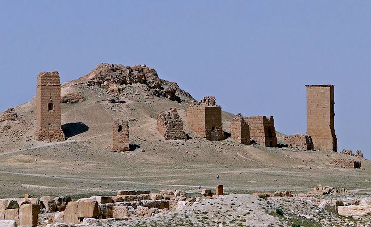Tower tombs, Palmyra, Syria (photo: Bernard Gagnon, CC BY-SA 3.0) https://commons.wikimedia.org/wiki/File:Tower_tombs,_Palmyra.jpg