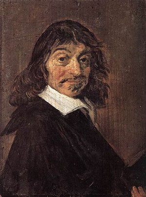 Frans Hals, Portrait of Rene Descartes, 1649, oil on canvas, 19 x 14 cm (Statens Museum for Kunst, Copenhagen)