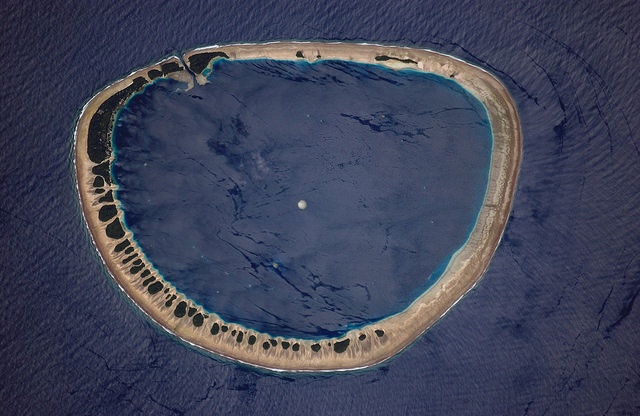 Nukuoro Atoll, Micronesia (Archive: NASA, International Space Station, CC BY-NC 2.0)