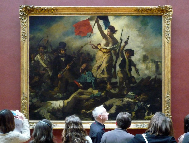 Eugène Delacroix, Liberty Leading the People, oil on canvas, September - December, 1830 (exhibited and purchased by the state from the Salon of 1831) 2.6 x 3.25m (Louvre, Paris) (photo: Steven Zucker, CC BY-NC-SA 2.0)