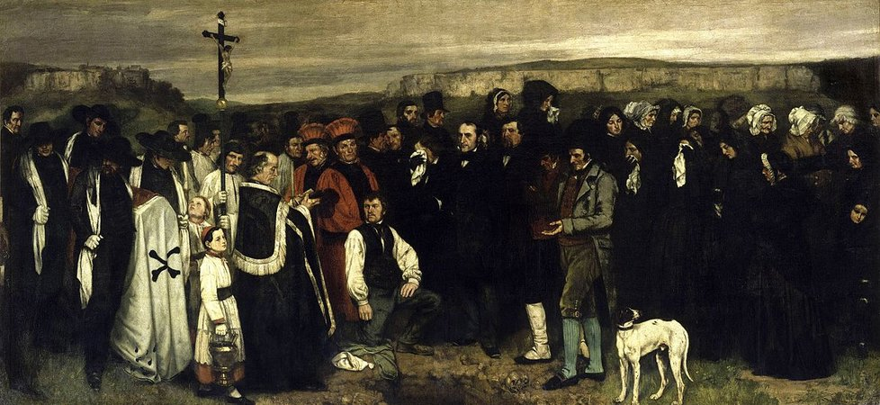 Gustave Courbet, A Burial at Ornans, 1849-50, oil on canvas, 314 x 663 cm (Musee d'Orsay, Paris)