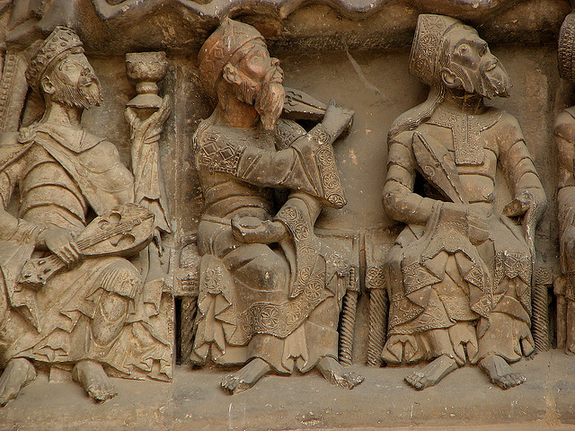 Elders, from the south tympanum, Saint Pierre, Moissac, c. 1115-30, photo: Nick Thompson (CC BY-NC 2.0)