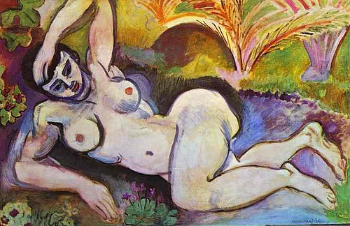 Henri Matisse, The Blue Nude (Souvenir de Biskra), 1907, oil on canvas, 92.1 x 140.3 cm (Baltimore Museum of Art)