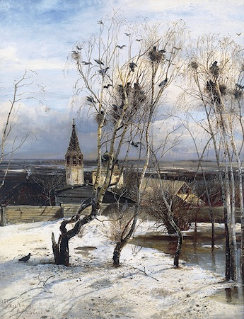 Aleksei Kondratievich Savrasov, The Rooks Have Returned, 1871