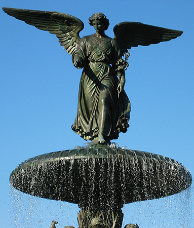Emma Stebbins, Angel of Waters, 1873, bronze, Bethesda Fountain (photo: Wayne Noffsinger, CC: BY 2.0)