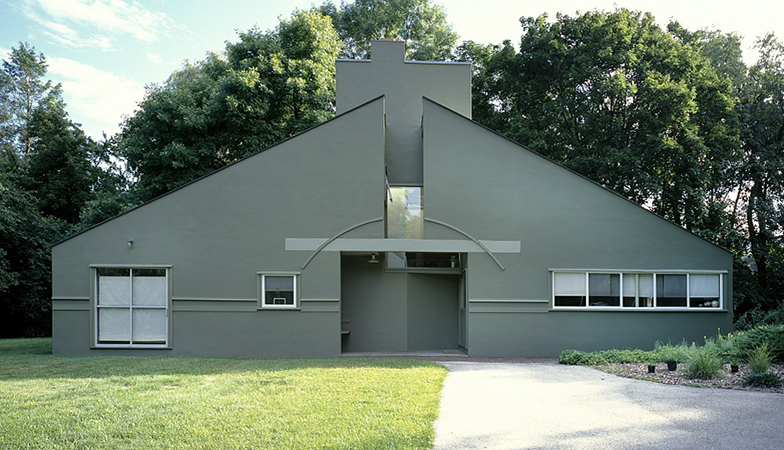 Front façade, Vanna Venturi House, 1959-64, Chestnut Hill, Philadelphia