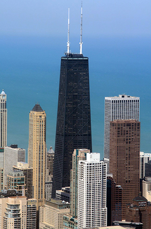 Hancock Tower, Chicago (photo: jochemberends, CC: BY-NC-SA 2.0)