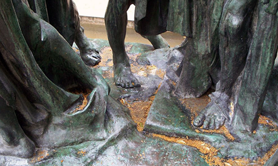 Detail, Auguste Rodin, The Burghers of Calais, bronze, 1884-95 (Musée Rodin, Paris) (photo: Elisabeth Rowney)