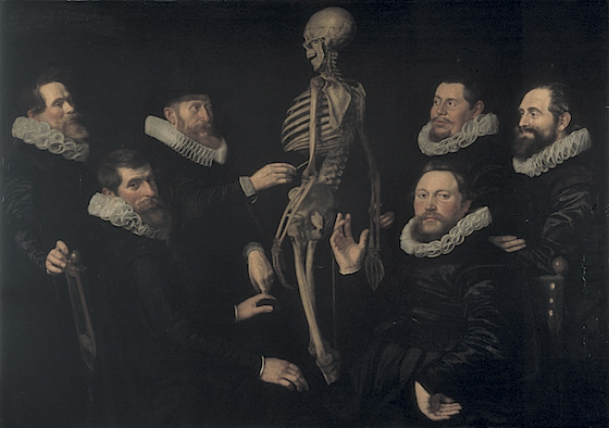 Thomas de Keyser or Nicolaes Eliaszoon Pickenoy, The Osteology Lesson of Dr. Sebastiaen Egbertsz, 1619, oil on canvas, 135 x 186 cm (Amsterdam Historical Museum)