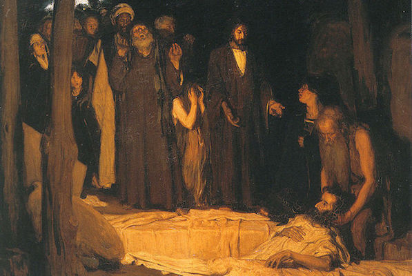 Henry Ossawa Tanner, The Resurrection of Lazarus, 1897, oil on canvas (Musée d'Orsay, Paris)