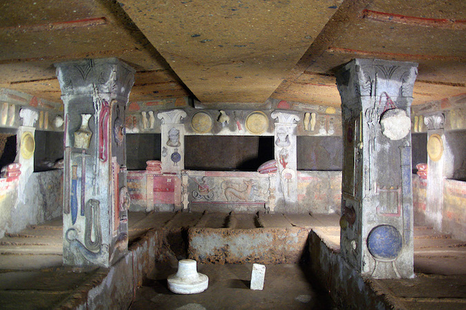 Tomb of the Reliefs, late 4th or early 3rd century B.C.E., Necropolis of Banditaccia (Cerveteri), Italy (photo, CC BY-SA 2.0)
