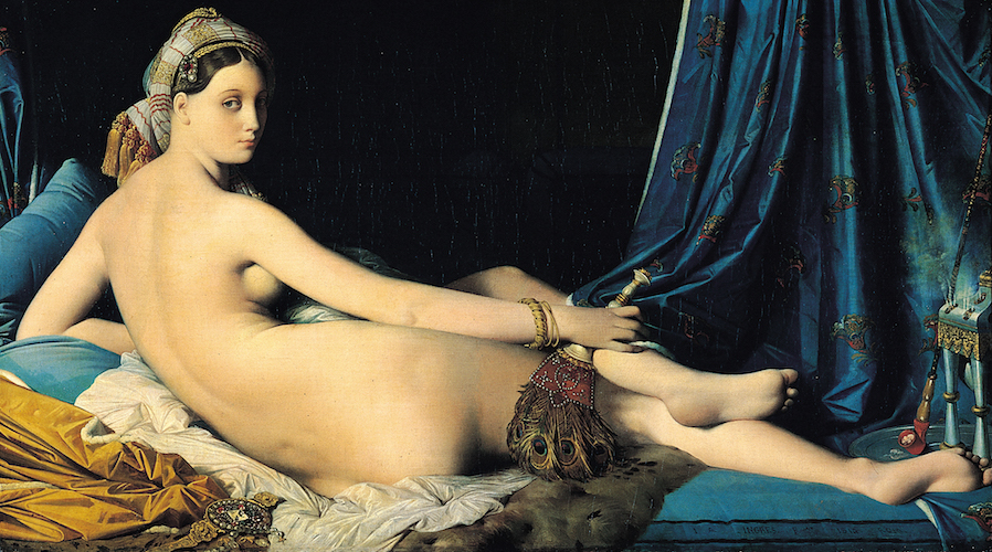 Jean-Auguste-Dominique Ingres, La Grande Odalisque, 1814, oil on canvas, 91 x 162 cm (Louvre, Paris)
