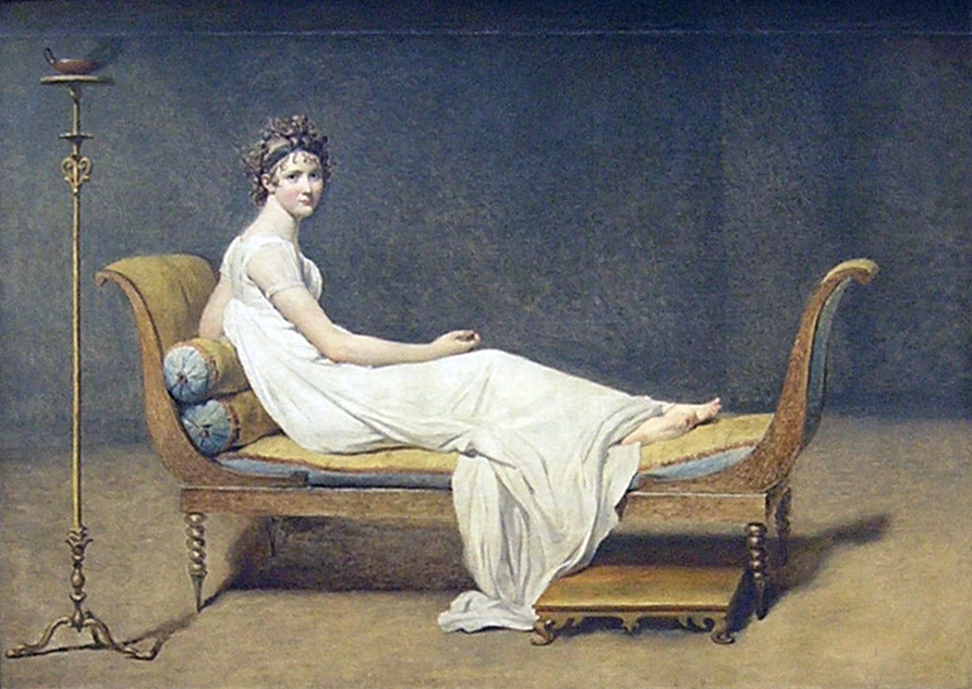 Jacques Louis David, Portrait of Madame Récamier, 1800,oil on canvas, 174 x 224 cm (Louvre, Paris)