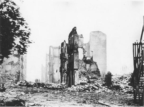 Guernica in ruins, 1937, photograph (German Federal Archives, bild 183-H25224)