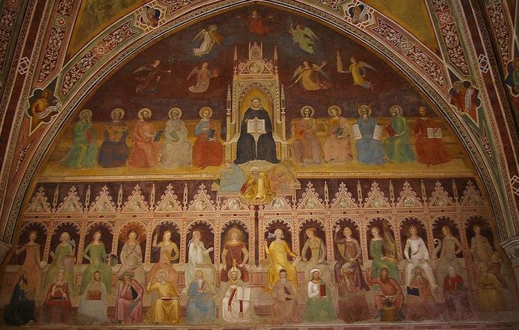 Andrea Bonaiuti, Triumph of St Thomas Aquinas, c. 1365-67, Guidalotti Chapel (Spanish Chapel) (Santa Maria Novella, Florence)