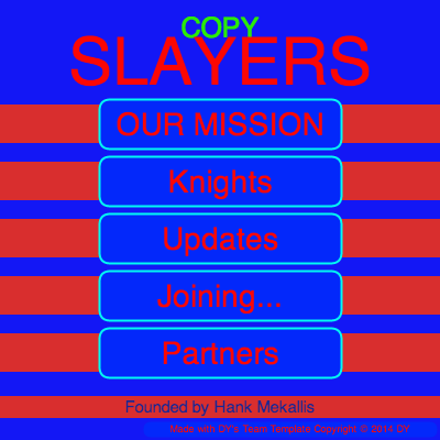 Screenshot of the Copy Slayers program