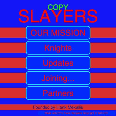 Screenshot of the Copy Slayers program