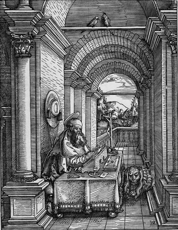 Hans Springinklee, St. Jerome, 1522, woodcut, 23.5 x 18.1 cm (The British Museum)