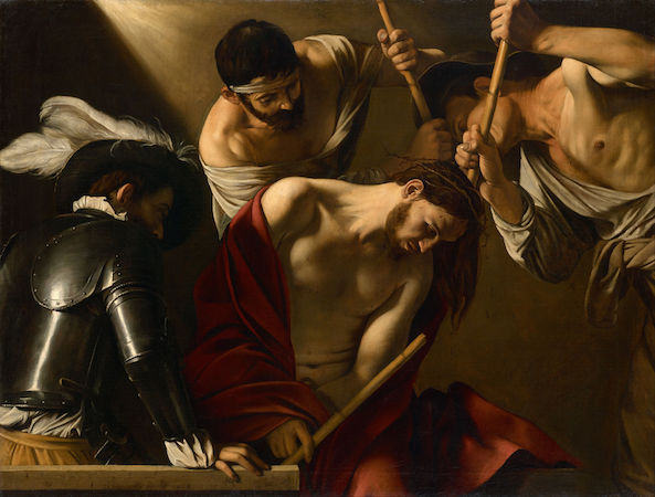 Caravaggio, The Crowning with Thorns, 1602-04, oil on canvas, 165.5 x 127 cm (Kunsthistorisches Museum, Vienna)